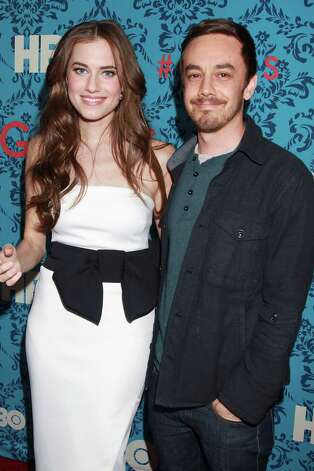 "Actress Allison Williams, left, poses with actor Jorma Taccone at the premiere of the HBO original series ""Girls,"" Wednesday, April 4, 2012 in New York. The comedy premieres April 15, at  10:30p.m. EST on HBO. Photo: AP"