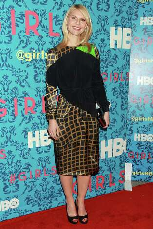 "Actress Claire Danes poses at the premiere of the HBO original series ""Girls,"" Wednesday, April 4, 2012 in New York. The comedy, starring Allison Williams, Zosia Mamet Jemima Kirke, and Lena Dunham, premieres April 15, at  10:30p.m. EST on HBO. Photo: AP"