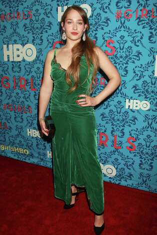 "Actress Jemima Kirke poses at the premiere of the HBO original series ""Girls,"" Wednesday, April 4, 2012 in New York. The comedy, starring Allison Williams, Zosia Mamet Jemima Kirke, and creator and executive producer Lena Dunham, premieres April 15, at  10:30p.m. EST on HBO. Photo: AP"