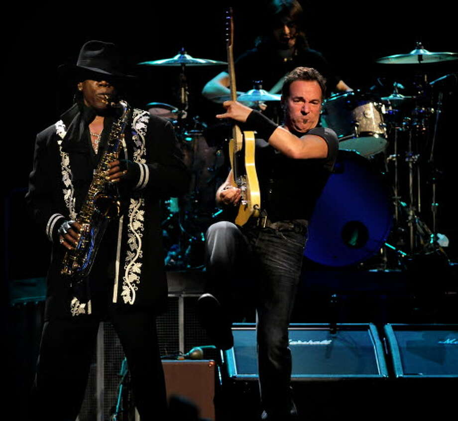 Bruce Springsteen and Clarence Clemons, left, perform with the E Street Band to a sold-out crowd on Thursday, May 14, 2009, at Times Union Center in Albany, N.Y. (Cindy Schultz / Times Union)