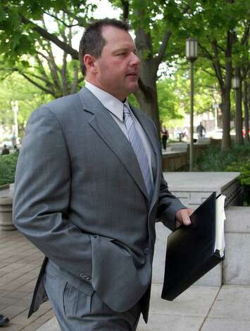Former Major League Baseball pitcher Roger Clemens arrives at federal court in Washington in Washington, Monday, April 16, 2012, for jury selection in the perjury trial on charges that he lied when he told Congress he never used steroids and human growth hormone.  (AP Photo/Manuel Balce Ceneta) Photo: Manuel Balce Ceneta, STF / AP