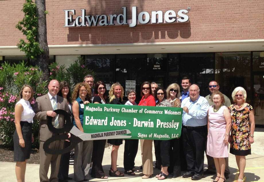 The Magnolia Parkway Chamber of Commerce hosted a ribbon-cutting ceremony for Darwin Pressley's new Edward Jones office, located at 3600 FM 1488 in Suite 190, on April 4.