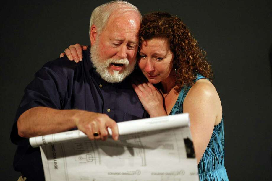 "Allan S. Ross and Belinda Harolds play Lear and Goneril in Classic Theatre's production of ""King Lear."" Photo: Jerry Lara, San Antonio Express-News / © 2012 San Antonio Express-News"