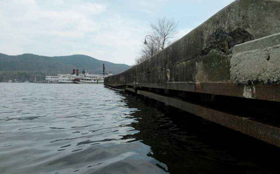 Large tour boats are seen in the background on Lake George on Monday, April 16, 2012 in Lake George, NY.  (Paul Buckowski / Times Union) Photo: Paul Buckowski