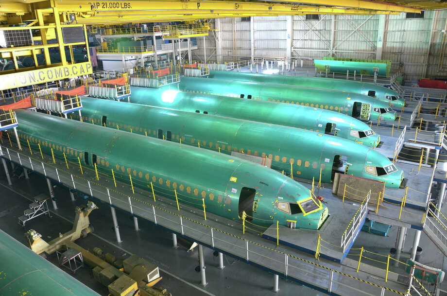 The inside of Spirit Aerosystems' plant in Wichita, Kan. is shown on April 16, 2012, two days after a tornado damaged the facility. Photo: Courtesy Spirit Aerosystems