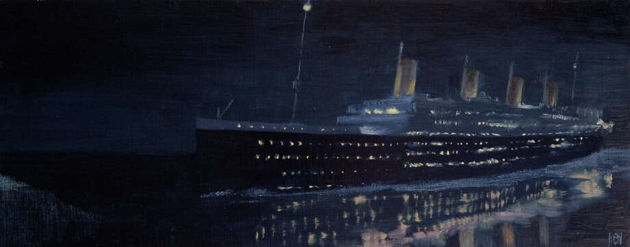 "KK Mink's ""Glassy Night"" will be on display in ""Reflections on the Titanic"" at the Lockwood-Mathews Mansion Museum. Photo: Contributed Photo"