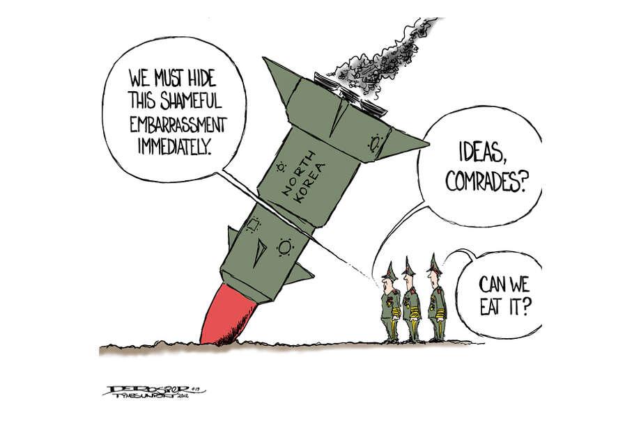 North Korean rocket launch fails. Photo: John De Rosier