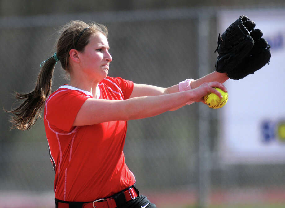 Chatham pitcher Kayla Doty throws the ball during a softball game against Maple Hill on April 16, 2012 in Schodack, N.Y. (Lori Van Buren / Times Union) Photo: Lori Van Buren