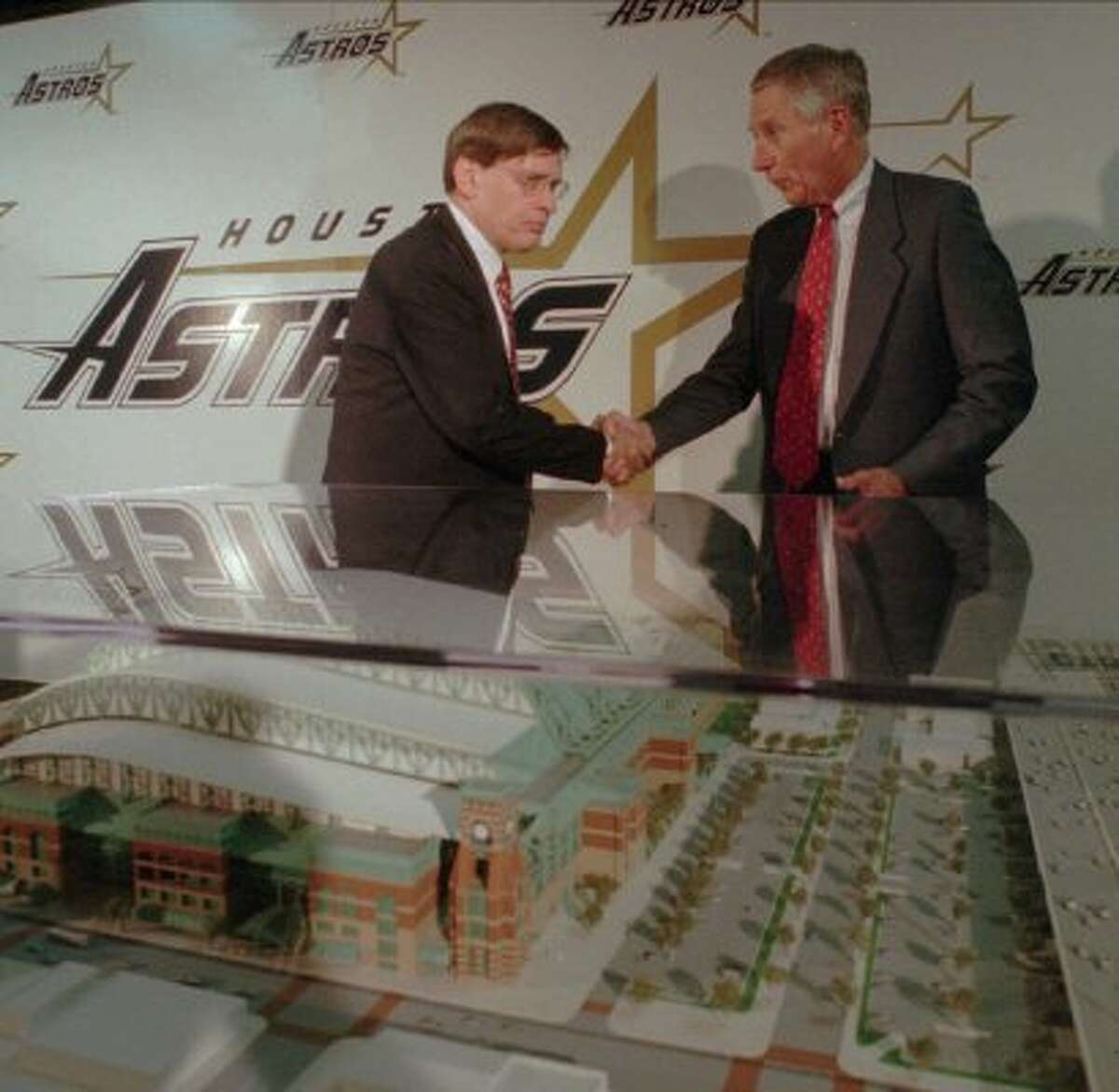 In 1998, Enron had made it. The company that formed from the merger between Houston Natural Gas and InterNorth was set to have its name plastered on the brand new Astros stadium. Enron Field was scheduled to open in 2000 with a 30-year lease agreement. That same year, Andrew Fastow was named the chief financial officer for Enron. (DAVID J. PHILLIP / AP)
