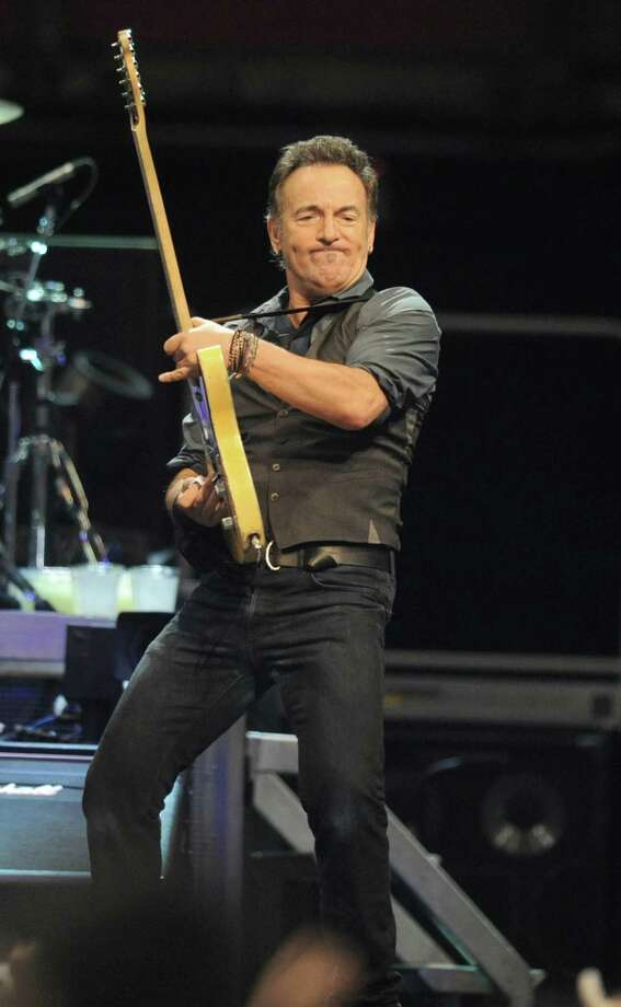 Bruce Springsteen performs to a sold out crowd at the Times Union Center on April 16, 2012 in Albany, N.Y. (Lori Van Buren / Times Union) Photo: Lori Van Buren, Albany Times Union / 00017239A