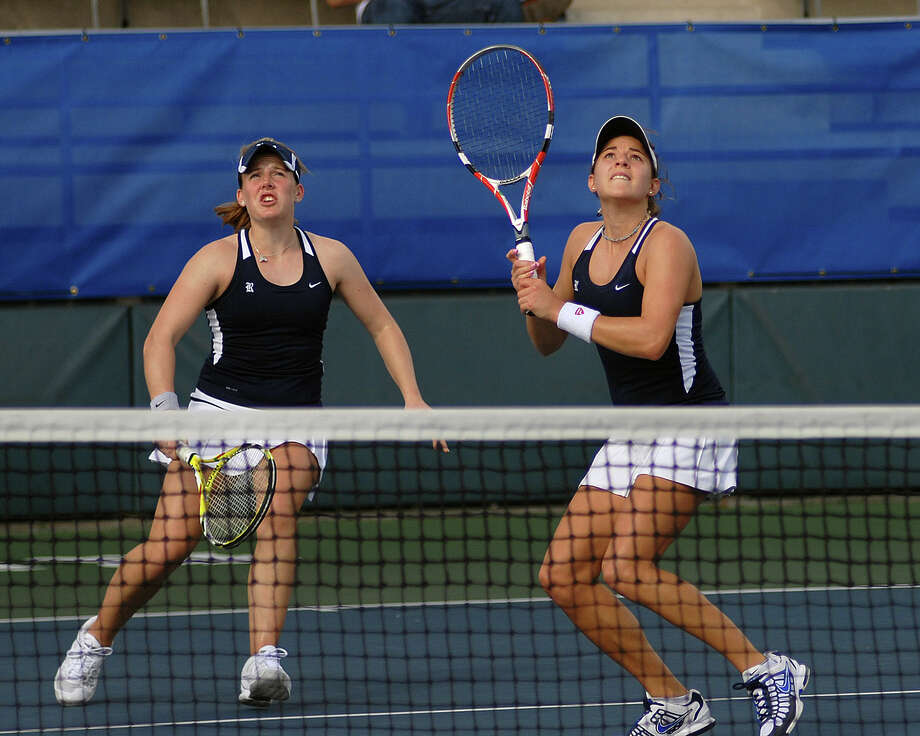 Rice's Natalie Beazant and Dominique Harmath are the highest-ranked doubles pair in Conference USA. Photo: Rice University