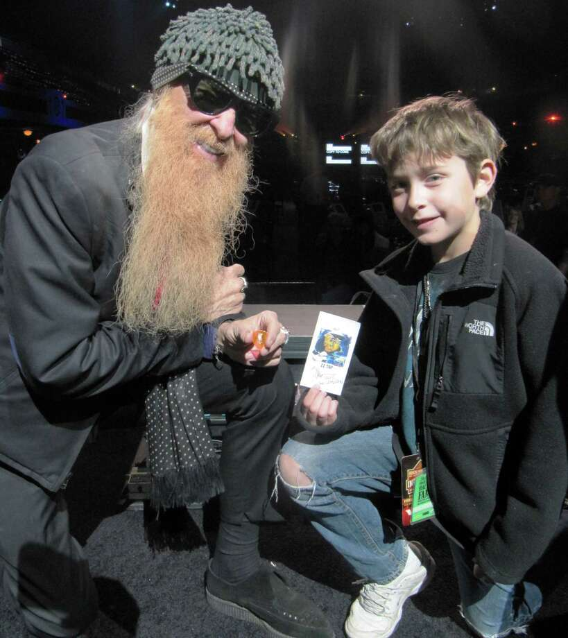 Billy Gibbons of ZZ Top poses with Cameron Schaffer of New Canaan. Cameron visited the Rock N Roll Hall of Fame induction with his dad. Photo: Contributed Photo