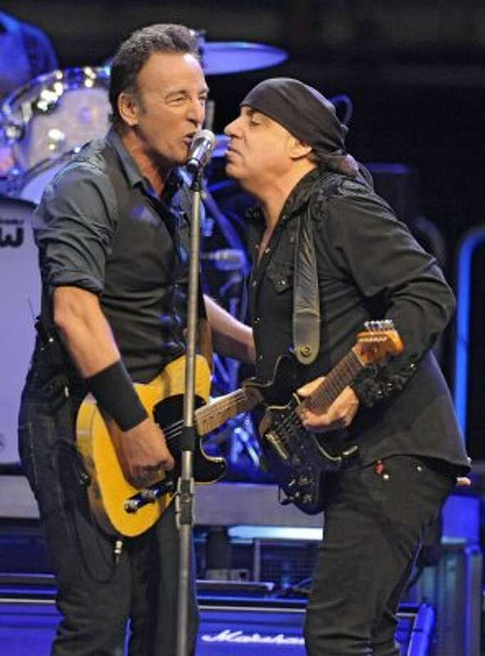 Bruce Springsteen sings with Steve Van Zandt of the E-Street Band at a sold out performance at the Times Union Center on April 16, 2012 in Albany, N.Y. (Lori Van Buren / Times Union) (Albany Times Union)