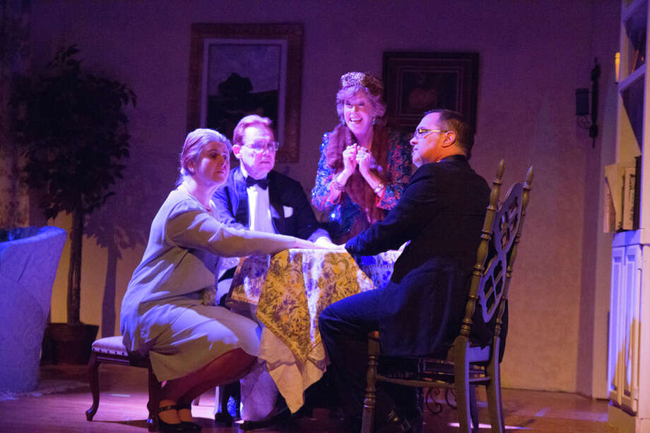 A medium tries to bring back the spirit of a man's deceased wife in ìBlithe Spirit,î  presented by Brewster Theater Company through April 28. The show is at Melrose School, 120 Federal Road in Brewster, N.Y. Photo: Contributed Photo