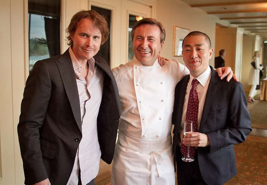 Left to right; Chef Grant Achatz of Alsina with Chef Daniel Boulud,of Daniel and Corey Lee of Benu b