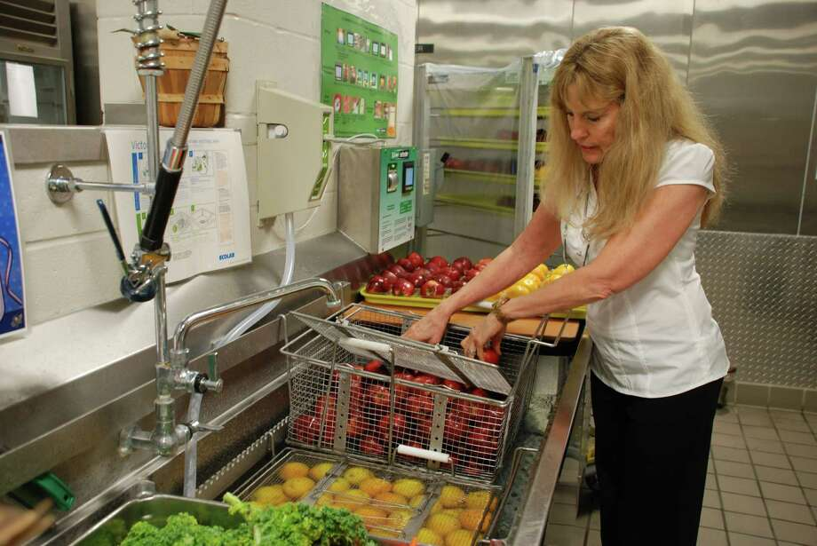 Deborah Zemanek, director of CISD's child nutrition department, has made it her goal to provide fresh fruits and vegetables daily. Photo: Lindsay Peyton
