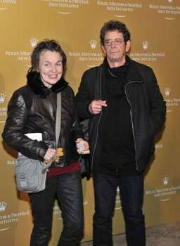 Laurie Anderson and Lou Reed: Sunday evenings at their place are always a barrel of laughs. (Getty Images)