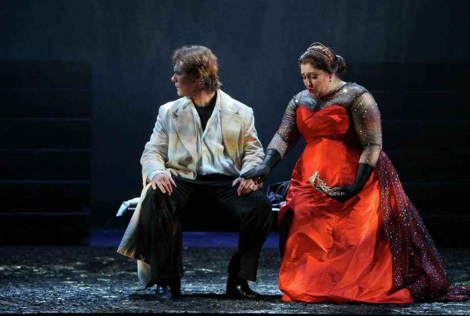 "Brandon Jovanovich stars as Don Carlos and Christine Goerke as Princess Eboli in Houston Grand Opera's production of Verdi's ""Don Carlos."" Photo: Gary Fountain / Copyright 2012 Gary Fountain."