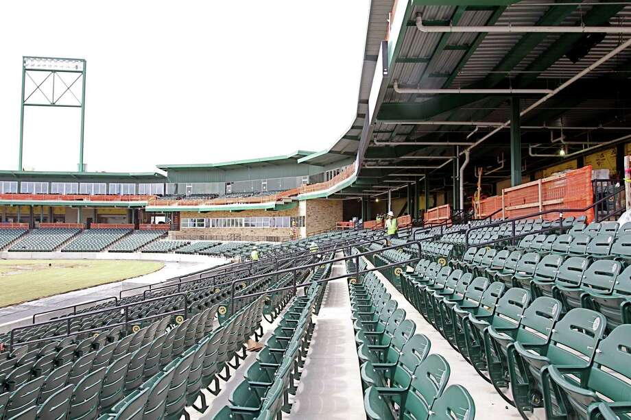 These seats are empty now, but next Thursday should be a different story. Opening day on April 26 is one of five sellouts so far for the Sugar Land Skeeters. The others are April 27-28, July 5 and closing day on Sept. 23. Photo: Suzanne Rehak
