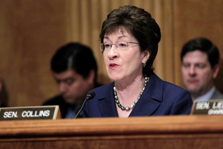 FILE - in this March 30, 2011 file photo, Senate Homeland Security and Governmental Affairs Committee ranking Republican Sen. Susan Collins, R-Maine speaks on Capitol Hill in Washington. At least 20 women were involved in last weekend's hotel incident with Secret Service agents, U.S. Marines and prostitutes in Colombia just before President Barack Obama's visit, a senator says. Congressional and military investigators begin to dig into the situation more deeply. (AP Photo/J. Scott Applewhite, File) Photo: J. Scott Applewhite / AP