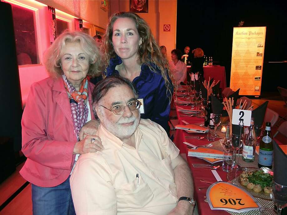 Jeannette Etheredge (left) with NBC Director Kristie Fairchild and director Francis Ford Coppola at Sts. Peter & Paul Church. April 2012. By Catherine Bigelow. Photo: Catherine Bigelow, Special To The Chronicle