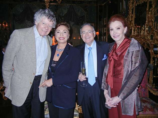 Gordon Getty (at left) with newlyweds Maria Manetti Farrow and Jan Shrem and his wife, Ann Getty. April 2012. By Catherine Bigelow. Photo: Catherine Bigelow, Special To The Chronicle