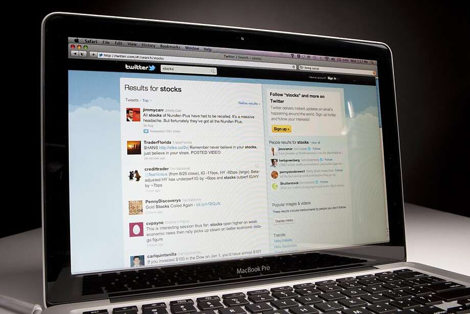 The Twitter Inc. website is displayed for a photograph in New York, U.S., on Wednesday, Aug. 31, 2011. Photographer: Scott Eells/Bloomberg Photo: Scott Eells, Bloomberg