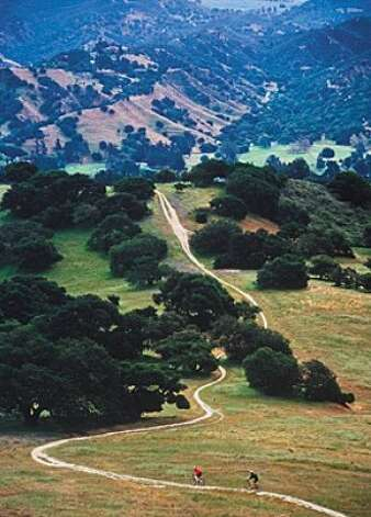 Fort Ord, one of the last undeveloped wild landscapes on the Monterey Peninsula, offers stellar mountain biking opportunities. Photo: Monterey Co. CVB