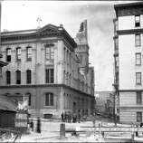 Sutter and Polk Car and Powerhouse after Earthquake | April 18, 1906 (John Henry Mentz / San Francisco Municipal Transportation Agency | SFMTA)