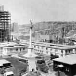 A historical shot of Union Square shortly after the 1906 earthquake. San Francisco Examiner photo.A historical shot of Union Square shortly after the 1906 earthquake. (San Francisco Chronicle Archive / ONLINE_YES)