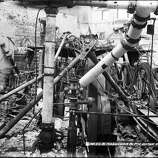 Washington & Mason Car and Powerhouse, Engine Room after Fire | May 7, 1906 (John Henry Mentz / San Francisco Municipal Transportation Agency | SFMTA)