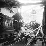 Oak and Broderick St Car House | April 18, 1906 (John Henry Mentz / San Francisco Municipal Transportation Agency | SFMTA)