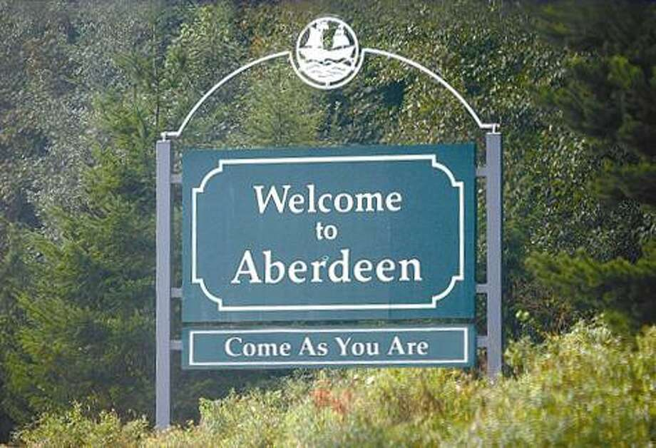 10. His hometown put his song lyrics on its welcome sign. (But if he was still alive, would Aberdeen still have done that?) (Wikimedia Commons photo)