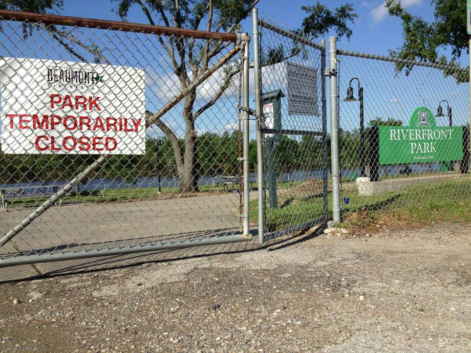 Beaumont's Riverfront Park is closed for minor upgrades after work was done on the river bank. Amy Moore/The Enterprise Photo: The Enterprise