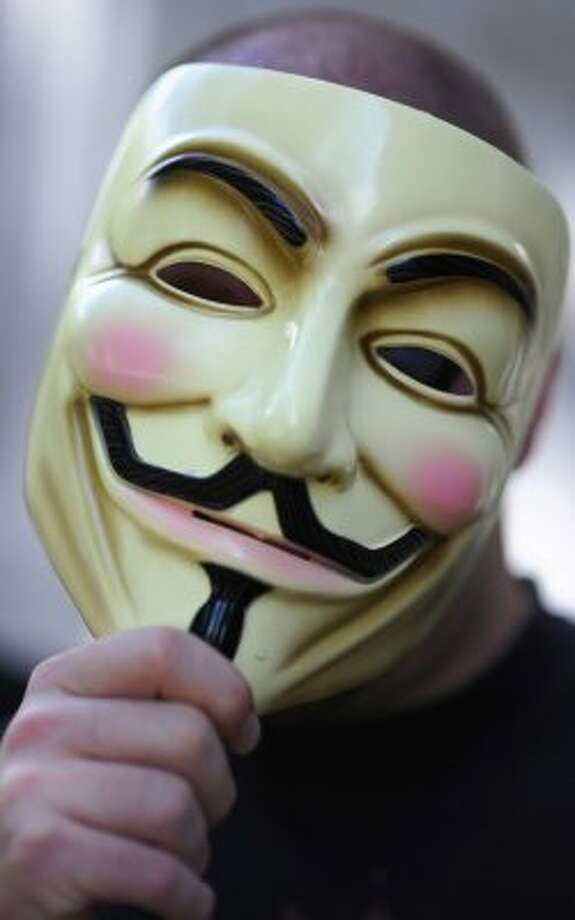 Anonymous, hacking organization (MICHAEL GOTTSCHALK / AFP/Getty Images)