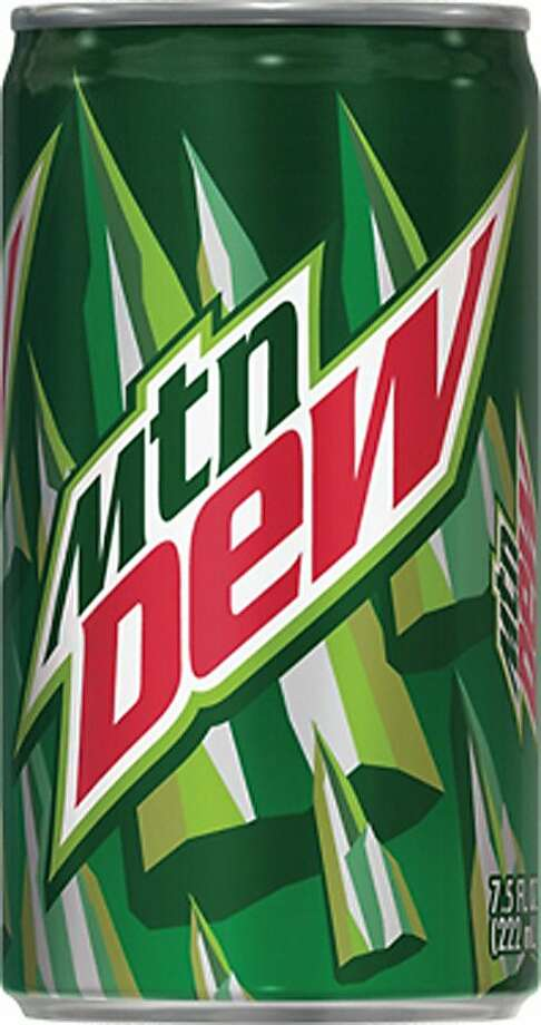 Mountain Dew 7.5 oz can Photo: Pepsicobeveragefacts.com