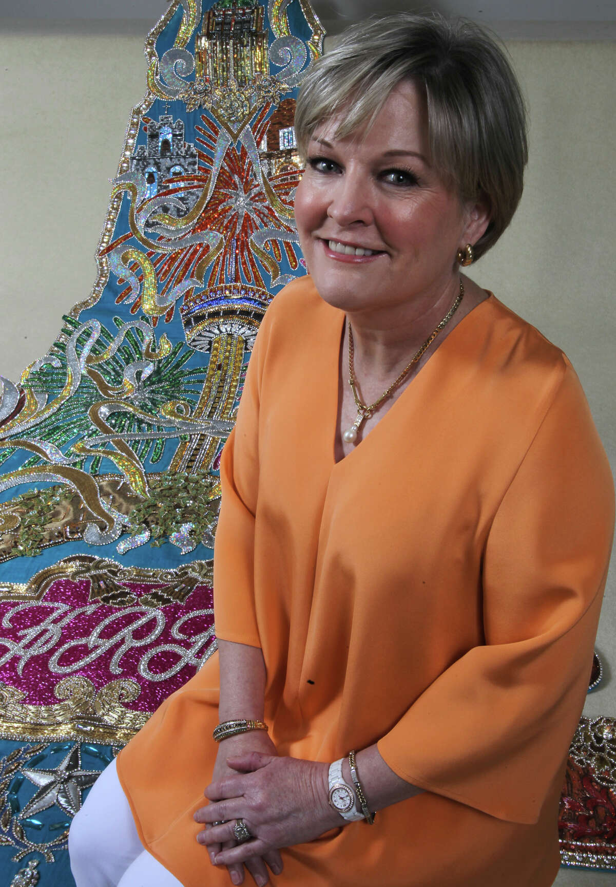 Susannah McAllister is this year's Order of the Alamo's Mistress of the Robes. (Friday April 6, 2012) John Davenport/San Antonio Express-News