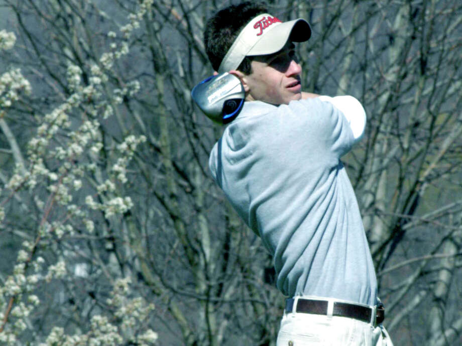 SPECTRUM/The Spartans' Erik Meglio gears up for the Shepaug Valley High School golf campaign at Lake Waramaug Country Club. April 2012 Photo: Norm Cummings