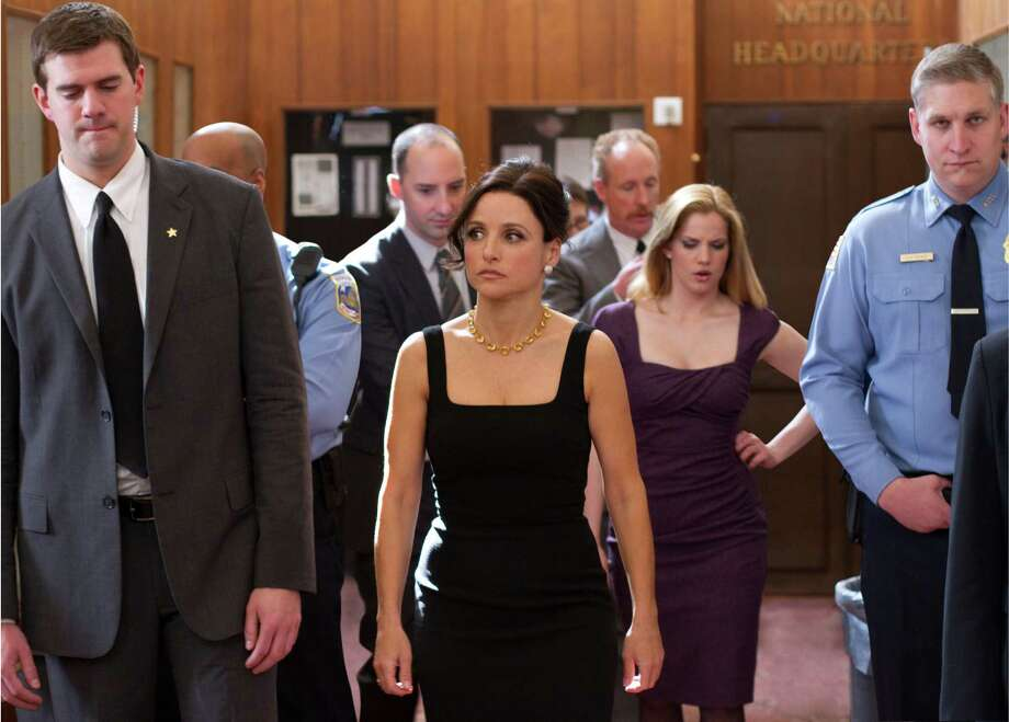 "Tony Hale, Julia Louis-Dreyfus, Matt Walsh and Anna Chlumsky star in HBO's political comedy ""Veep."" Photo: Bill Gray/courtesy / GRAY PICTURES llc"