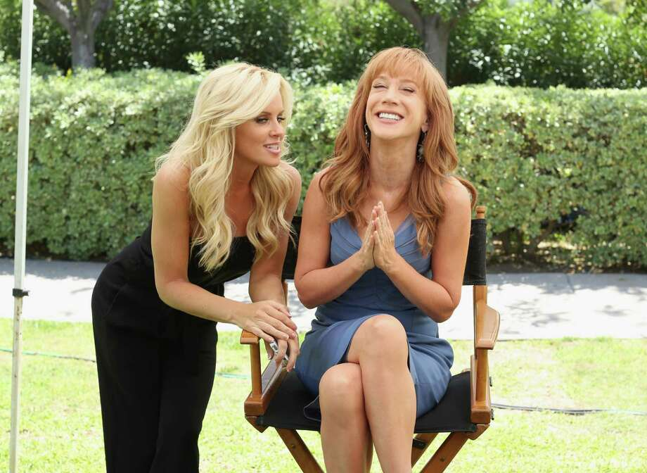 Actress Jenny McCarthy (L) and actress/comedian Kathy Griffin attend the NBCUniversal summer press day held at The Langham Huntington Hotel and Spa on April 18, 2012 in Pasadena, California. Photo: Christopher Polk, Getty Images For NBCUniversal / 2012 Getty Images
