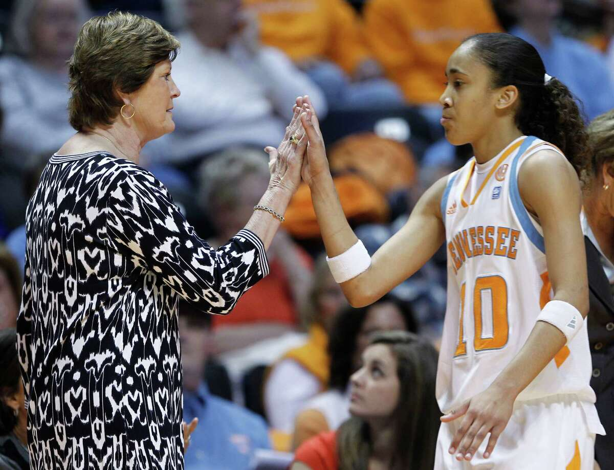 Tennessee's Pat Summitt (left) coached Steele High product Meighan Simmons.