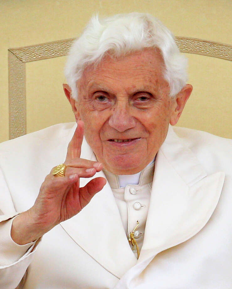 Pope Benedict XVI gestures during his weekly audience in St. Peter's square at the Vatican, Wednesday, April 11, 2012. Photo: Riccardo De Luca, AP / AP