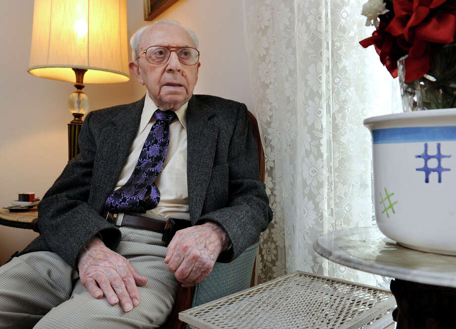 William Kaiser, 93, of Danbury, a Holocaust survivor, is photographed in his home, Wednesday, April 18, 2012. Photo: Carol Kaliff / The News-Times
