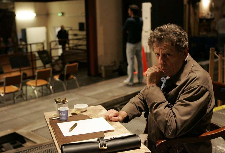 Composer Philip Glass on the set of Appomattox at the War Memorial Opera House. Glass composed the score for the opera, which opens Oct. 5. Photo: Laura Morton, Freelance