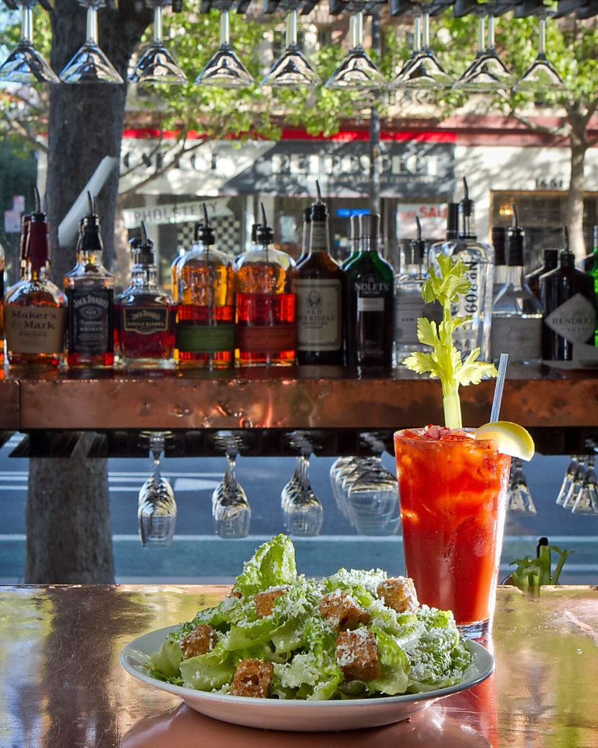 The Bloody Mary and the Caesar Salad at the Zuni Cafe in San Francisco, Calif., is seen on Wednesday April 15th, 2012.