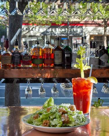 Zuni Cafe offers one of the top lineups of oysters in the city, and the freshly made Bloody Marys and Caesar salad are popular, as is the stack of shoestring potatoes. Photo: John Storey