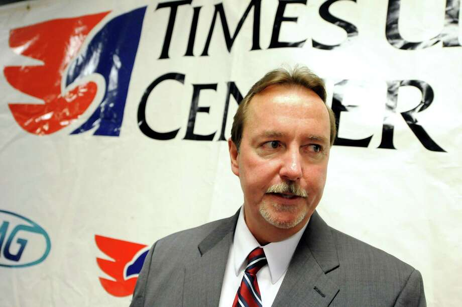 Times Union Center general manager Bob Belber speaks on possibly bringing back the ECAC hockey tournament on Wednesday, April 18, 2012, at the Times Union Center in Albany, N.Y. (Cindy Schultz / Times Union) Photo: Cindy Schultz / 00017293A
