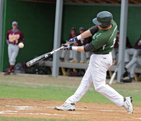 Shenendehowa's Chris Miller hits the ball for a home run during a baseball game against Colonie on April 18, 2012 in Clifton Park, N.Y. (Lori Van Buren / Times Union) Photo: Lori Van Buren
