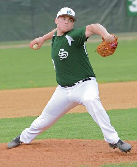 Shenendehowa's Miles Kelly pitches the ball during a baseball game against Colonie on April 18, 2012