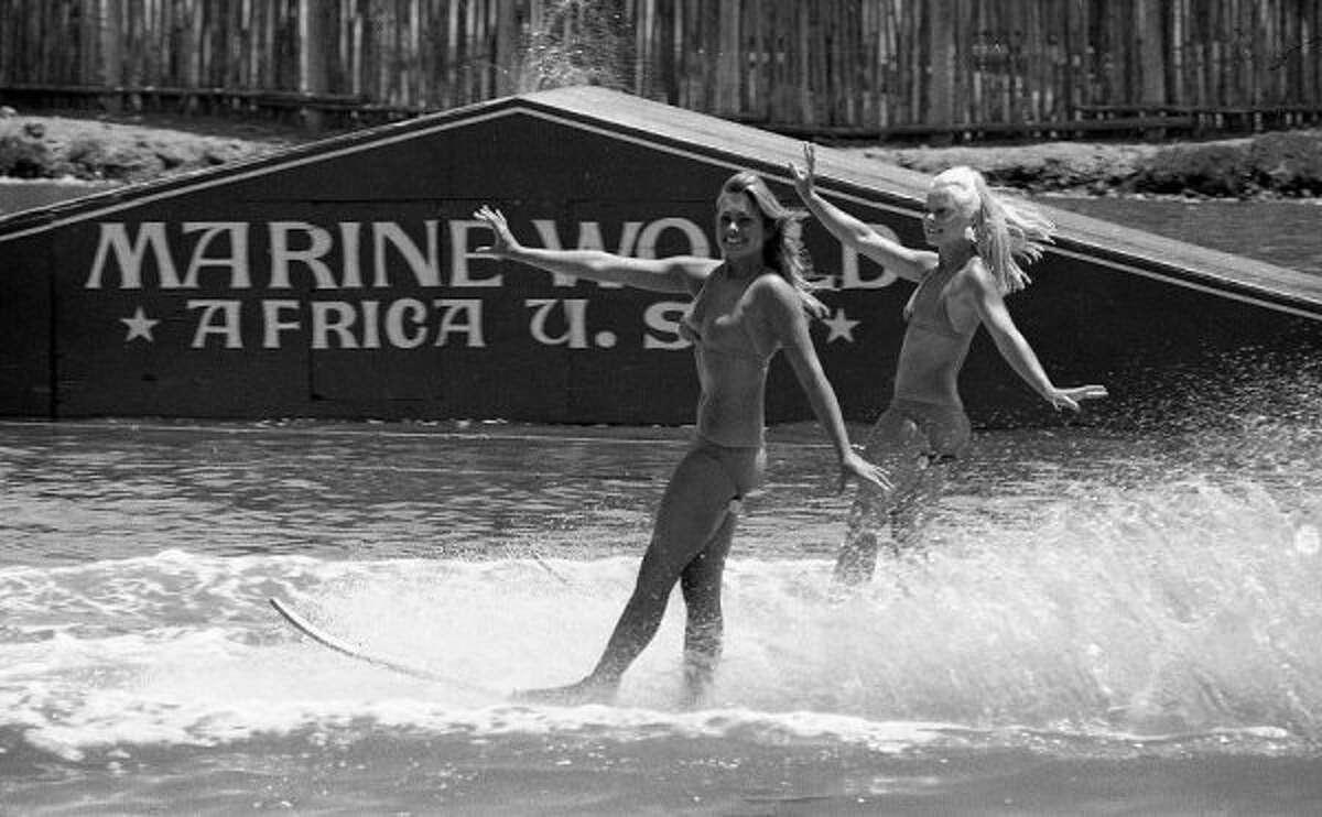 MARINE WORLD AFRICA U.S.A.: You know you're old when you still use Africa U.S.A., and you remember the sexy ski show. The Aquabelles perform here. (Chronicle file 1974)